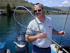 Dave Graybill - the Fishin' Magician on Lake Chelan